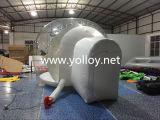Globo humano inflable de la nieve de la talla con el contexto de la impresión