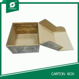 Flacher gepackter Papiergeschenk-verpackenkasten