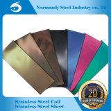 Folha da cor do aço inoxidável da alta qualidade 202 para materiais da decoração