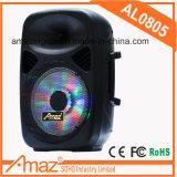 Bluetooth beweglicher Laufkatze-Plastiklautsprecher mit 8 Zoll /FM /USB/SD/Remote
