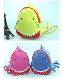 아이들 만화 상어 PU 가죽 책가방 아이 나이 2-8를 위한 동물성 인쇄 소녀 소년 학교 부대 우연한 어깨에 매는 가방