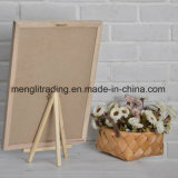 Доска для сообщений доски письма войлока с собирательными мешком хлопка и стойкой древесины