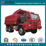 디젤 엔진 Sinotruk HOWO 70tons 420HP 6X4 30m3 광업 쓰레기꾼 트럭