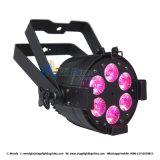 6PCS*12W vendedor caliente RGBW 4 en 1 luz de la IGUALDAD del LED
