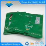 Sacchetto di plastica riutilizzabile su ordinazione dell'estetica della serratura della chiusura lampo del di alluminio