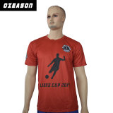 La vente en gros conçoivent votre propre T-shirt de sports de sublimation