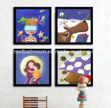 Fotos animales del marco que cuelgan en la pared para el sitio de niños