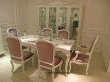L'argento bianco fresco di colore di legno solido Y07 parte la Tabella pranzante della decorazione