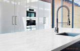 Le lastre popolari della pietra del quarzo di Calacatta comerciano per il controsoffitto della stanza da bagno della cucina
