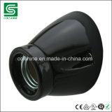 Le ce SAA a indiqué le support d'ampoule en céramique de lampe de support du mur E27, douille de lampe inclinée de porcelaine