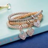 Juwelen van de Armband van de Diamant Zircon van de manier de Hart Gestalte gegeven Multilayer