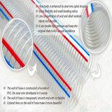 De industriële Pijp van de Slang van de Zuiging van de Draad van het Staal van pvc Op zwaar werk berekende Spiraalvormige