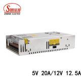 D-250A 5V 20A/12V 12.5A 250W verdoppeln Ausgabe-Schaltungs-Stromversorgung