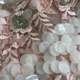 Ricamo del fiore con il Sequin e le pietre qualsiasi disegno e colore