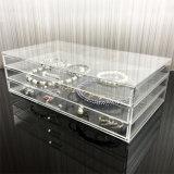 La vente en gros a personnalisé le renivellement acrylique Organzier de 3 tiroirs