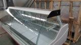 Refrigerador comercial do indicador do supermercado fino, gabinete de indicador do refrigerador das guloseimas para o talho