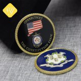 Moneta parteggiata militare dell'esercito dello smalto personalizzata commercio all'ingrosso