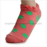 Kundenspezifische Firmenzeichen-Punktpatten-Freizeit-Socken