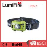 Hauptlicht ABS Plastik-USB-Rechargeble mit Bewegungs-Fühler-Licht