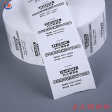 Cuidados de lavagem de alta qualidade de impressão de etiquetas de tomada de Rótulo