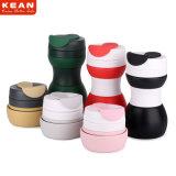 Sin BPA Non-Toxic Portable de taza de café de silicona plegable reutilizable 500ml