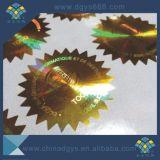高品質のカスタム緑色のホログラムレーザーのステッカー