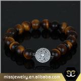 De Geparelde Armband Mjbe008 van de Steen van het Oog van de tijger Charme