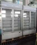 De commerciële Koeler van de Vertoning van de Drank van de Deur van het Glas van de Supermarkt en van het Restaurant Rechte (LG-2000BF)