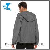 남자의 두건이 있는 긴 소매 경량 스포츠용 잠바 재킷