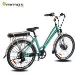 Bicicleta de la ciudad de la aleación 36V250W del Al eléctrica/bici eléctrica para la señora