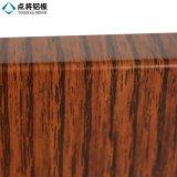 Feuille en aluminium de série d'enduit en bois de poudre pour la construction de façade