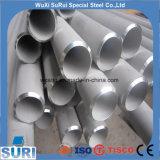 Tubulação de aço inoxidável grossa de grande diâmetro A312 Tp321 Tp316 para o cambista de calor