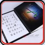 Percha de tres meses de la pared de los calendarios de la impresión de encargo
