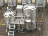 mini micro strumentazione di pianta della fabbrica di birra della birra di 500L 1000L con la fabbrica di birra ed il fermentatore