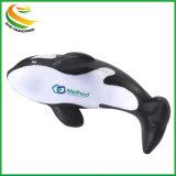 Logo personnalisé cadeau promotionnel Mousse de PU Dolphin calmant Balle de stress