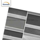 Mosaico brillante del vidrio del espesor del azulejo 8m m de la pared de la fábrica de China de la mezcla de aluminio directa del cepillo