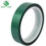 El aislamiento de alta temperatura de color verde de protección de cinta adhesiva de enmascarar de poliéster