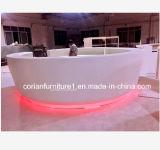 заводская цена за круглым столом Corian крытый бар на открытом воздухе счетчик
