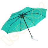 Automatischer des Grün-drei Geschenk-Regenschirm Faltesun-Shaderain im Freien