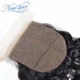 絹の基礎閉鎖によって漂白される結び目の中国の自然な波の人間のバージンの毛