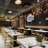 喫茶店の店のカウンター表のダイニングテーブルおよび椅子セット