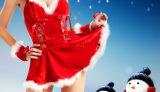 Uniformchristmas 섹시한 빨간 란제리 크리스마스 복장 의류