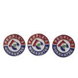 Distintivo di protezione su ordinazione del metallo di qualità del distintivo militare ovale eccellente del metallo