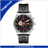 Le luxe observe la montre classique en cuir de quartz avec le Tachymeter