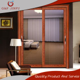Puerta deslizante interior del estilo del grano de madera de aluminio europeo del perfil