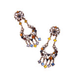 Nouveau design coloré rétro Tassel Drop Earring