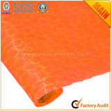 Naranja no tejida de los materiales de embalaje de la flor y de regalo de los PP No. 6