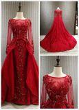 完全な袖の夜会服のイブニング・ドレス