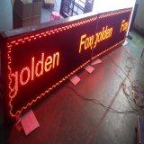 Message texte de couleur rouge Affichage LED avec arrêt de bus