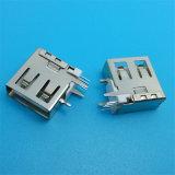 Inclusif de base en plastique de 90 degrés de connecteur USB 2.0
